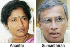 Ananthi alleges Sumanthiran