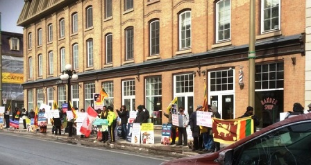 Sri Lanka protest rally outside USA Embassy_250314