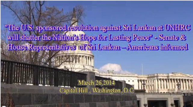 Sri Lankan -American community gathered at Capitol Hill