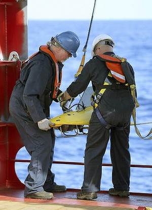 Crew on the Ocean Shield