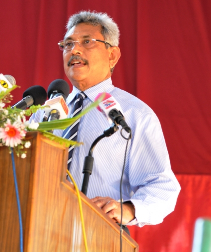 Secretary of the Ministry of Defense and Urban Development Mr. Gotabaya Rajapaksa