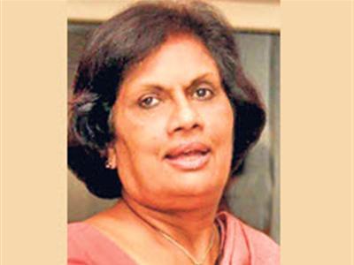 Former president Chandrika Bandaranaike Kumaratunge