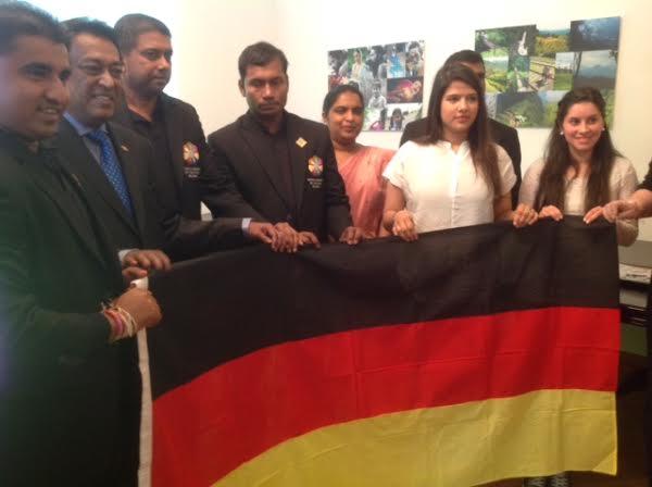 """Around the World in 40 days"""" briefs German Youth"""