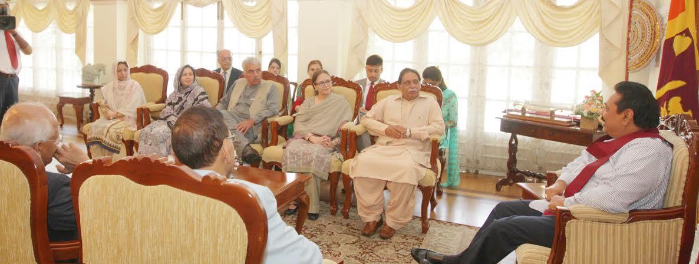 Balochistan Assembly Meets President Rajapaksa