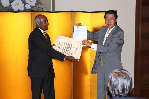 Tokyo Cement Receives Commendation from Ambassador of Japan