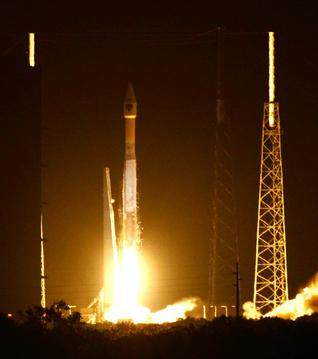 A United Launch Alliance Atlas V lifts off from Complex 41 at Cape Canaveral Air Force Station on Friday.