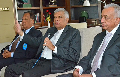 Ranil-meet-media