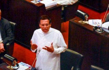 sri-lanka-president-maithripala-sirisena-at-parliament LNP