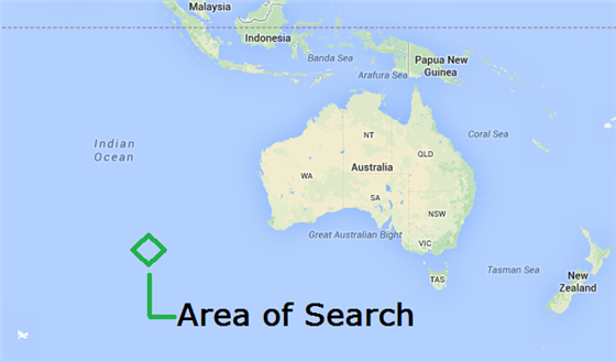 A map released Australia MH 370