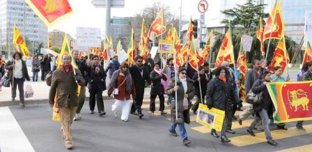 Massive demo at UN, Geneva_240314
