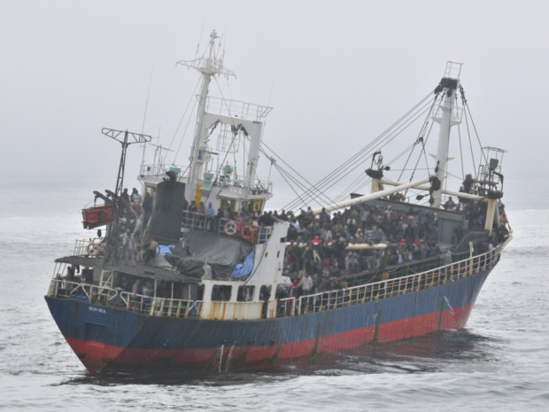When the human smuggling ship MV Sun Sea appeared on those rainy waters more than three years ago, overwhelmed immigration officials bused the Sri Lankans on board to this prison, but they have since been released. (MCpl Angela Abbey, Canadian Forces Combat Camera)
